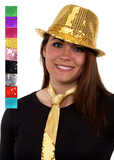 627af66f9e6 Sequin Fedora - Various Colors - Candy Apple Costumes