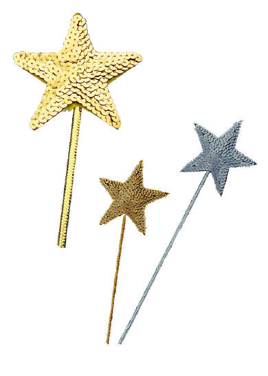 sequin star wand gold or silver candy apple costumes. Black Bedroom Furniture Sets. Home Design Ideas