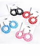 Small Polka Dot Plastic Hoop Earrings