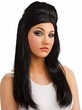 Women's Black Bouffant Wig