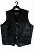Stone Leather Biker Vest - Adult and Plus Sizes