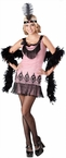 Teen Pink Flapper Costume