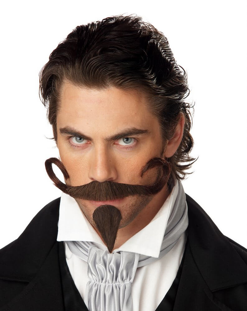 the gambler mustache and goatee - candy apple costumes - steampunk