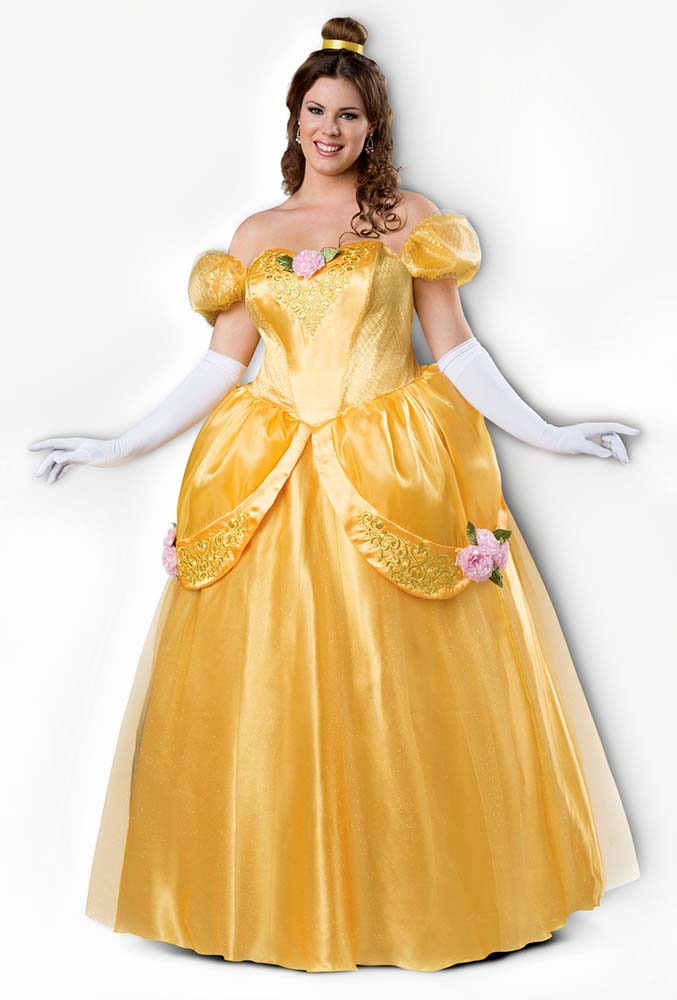 Deluxe Plus Size Beautiful Princess Bell Costume Candy Apple
