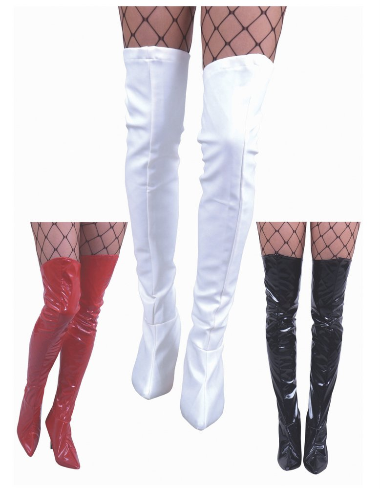 Thigh High Vinyl Fabric Boot Tops - Candy Apple Costumes - Cop ...