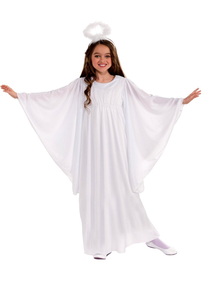child and toddler angel costume with bell sleeves - Christmas Costume