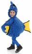 Toddler/Child Plush Blue Fish Belly Babies Costume