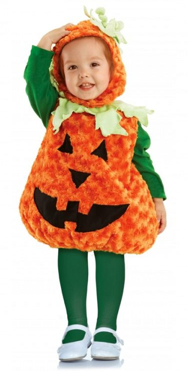 Toddler/Child Plush Pumpkin Costume  sc 1 st  Candy Apple Costumes & Toddler/Child Plush Pumpkin Costume - Candy Apple Costumes - Girls ...