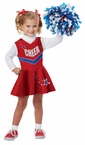 Toddler/Child Red Classic Cheerleader Costume