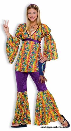 Tween Girls' Purple Haze Hippie Costume