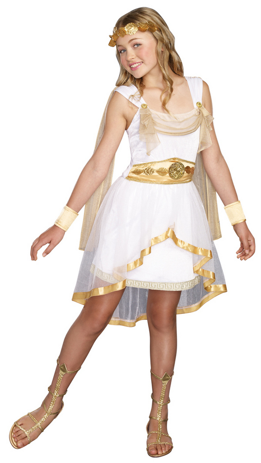 tween miss olympian goddess costume