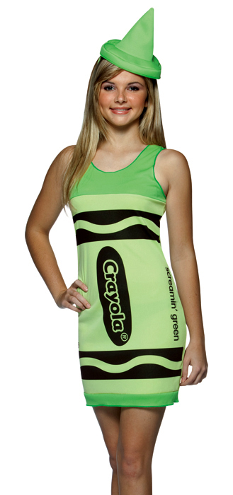Tween Screaminu0027 Green Crayola Crayon Costume  sc 1 st  Candy Apple Costumes & Tween Screaminu0027 Green Crayola Crayon Costume - Candy Apple Costumes ...