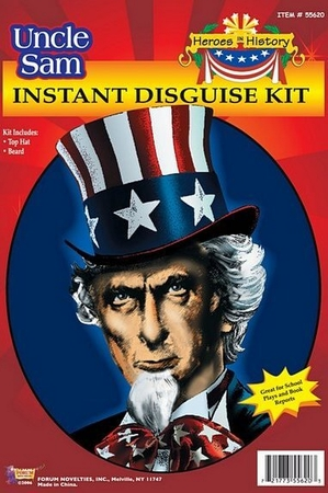 Uncle Sam Beard and Hat Kit