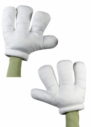 White Cartoon Hands Gloves