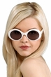 White Round Jackie Sunglasses