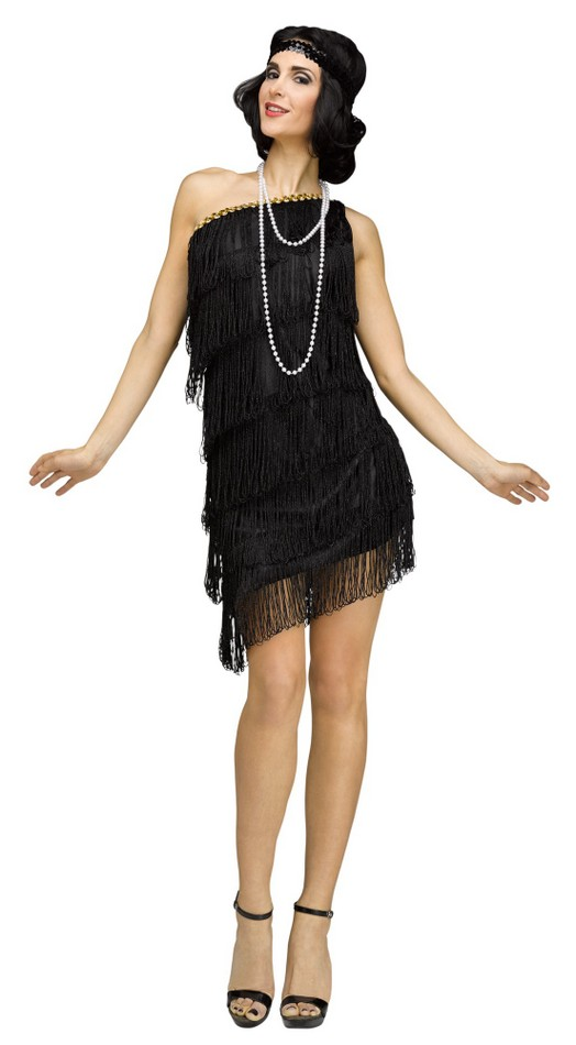 96579a5035 Women s 20 s Shimmery Black Flapper Costume - Candy Apple ...
