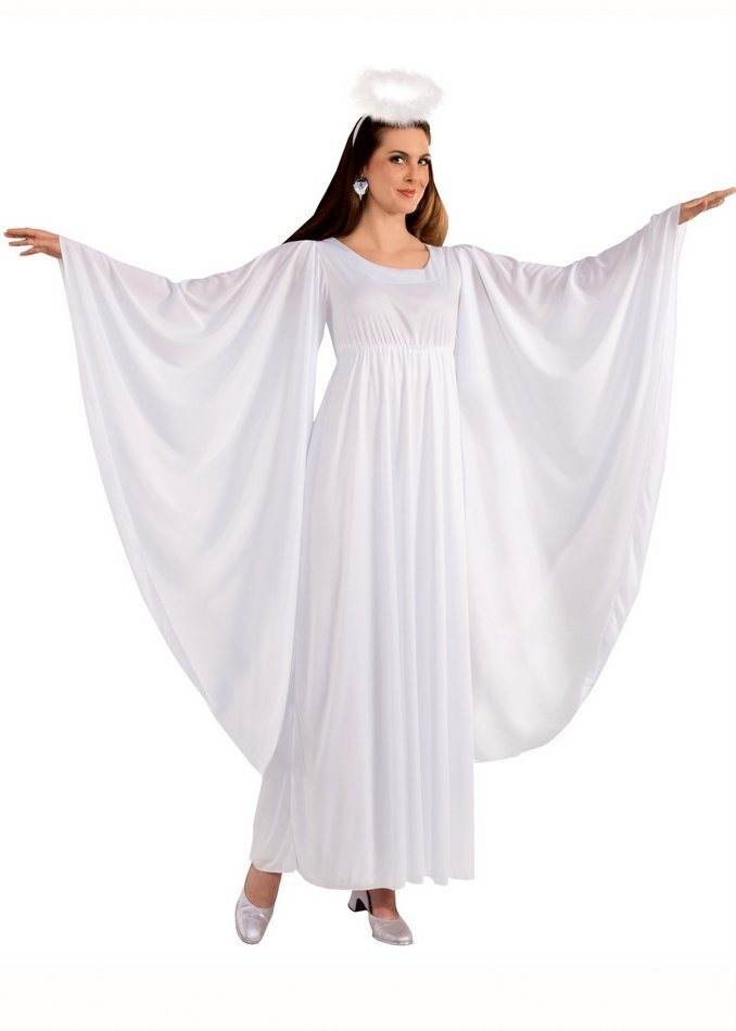 Womenu0027s Angel Costume With Bell Sleeves Womenu0027s Angel Costume With Bell Sleeves  sc 1 st  Candy Apple Costumes & Womenu0027s Angel Costume With Bell Sleeves and Halo - Candy Apple ...