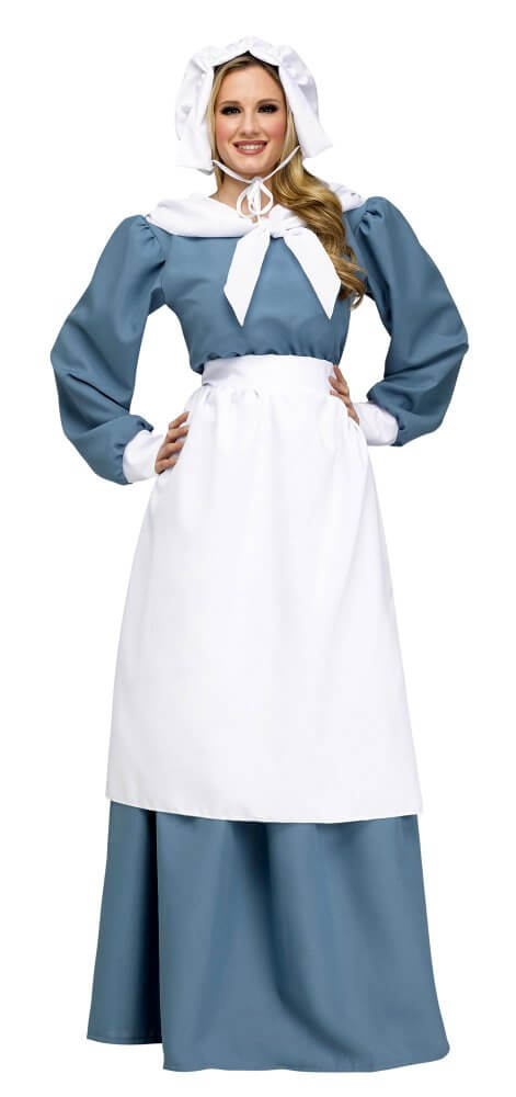 172704f8a87 Women s Blue Pilgrim Lady Costume - Candy Apple Costumes - Colonial Costumes