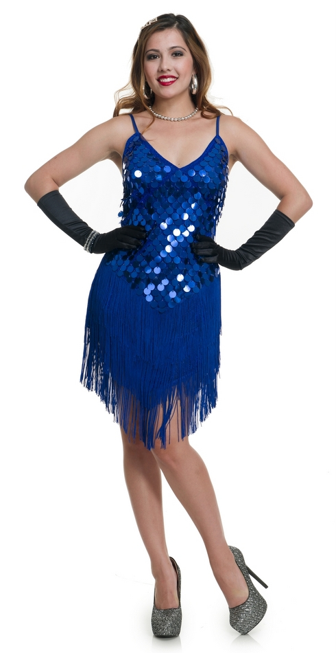 Women's Blue Sequin '20s Flapper Costume - Candy Apple ...