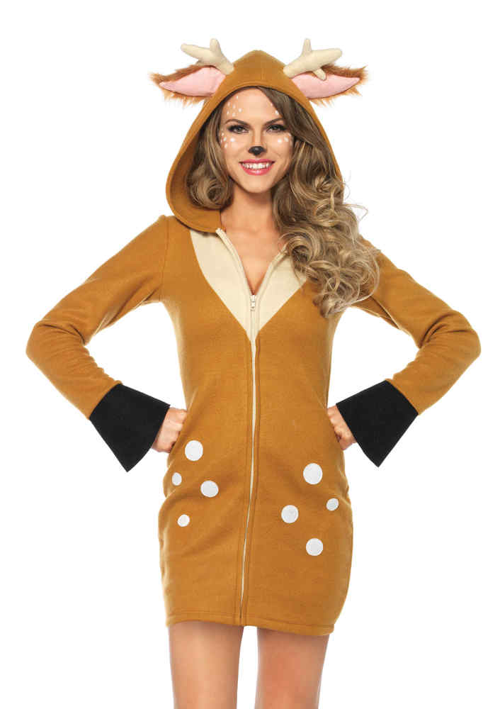 women 39 s cozy fawn costume candy apple costumes animal. Black Bedroom Furniture Sets. Home Design Ideas