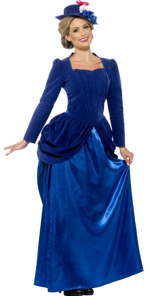 Women\'s Deluxe Blue Victorian Lady Costume - Candy Apple Costumes ...