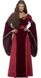 Women's Deluxe Crimson Medieval Queen Costume
