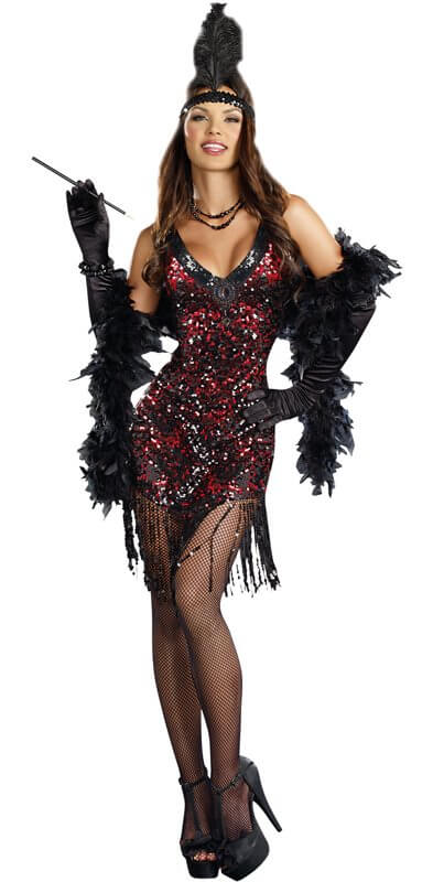womens dreamgirl dames like us flapper costume