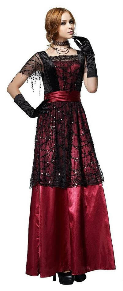Women\'s Edwardian Uptown Lady Costume - Candy Apple Costumes ...