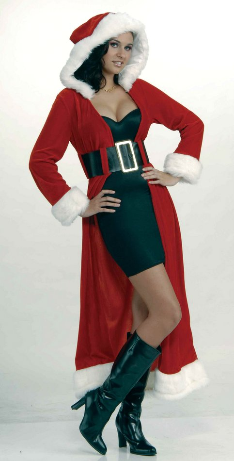 Womenu0027s Enchanting Miss Christmas Santa Coat Costume Size S/M  sc 1 st  Candy Apple Costumes : women christmas costume  - Germanpascual.Com