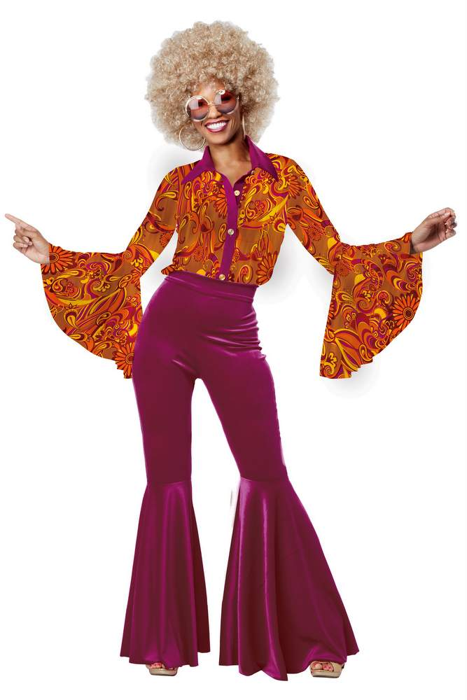 Women 39 s funky disco diva costume candy apple costumes for Funky diva