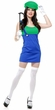 Women's Green/Blue Patty the Plumber Costume