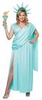 Plus Size Lovely Lady Liberty Costume