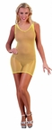 Women's Neon Yellow Fishnet Dress