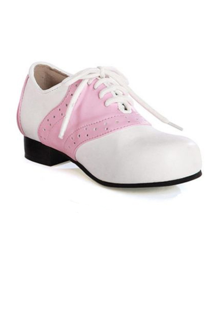 Women s Pink and White Saddle Shoes - Sock Hop Costumes - Shoes   Boots fd8dce91c5