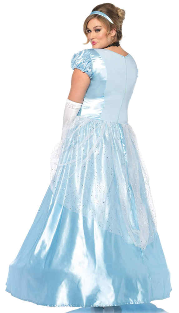 Womens Plus Size Classic Cinderella Costume Candy Apple Costumes