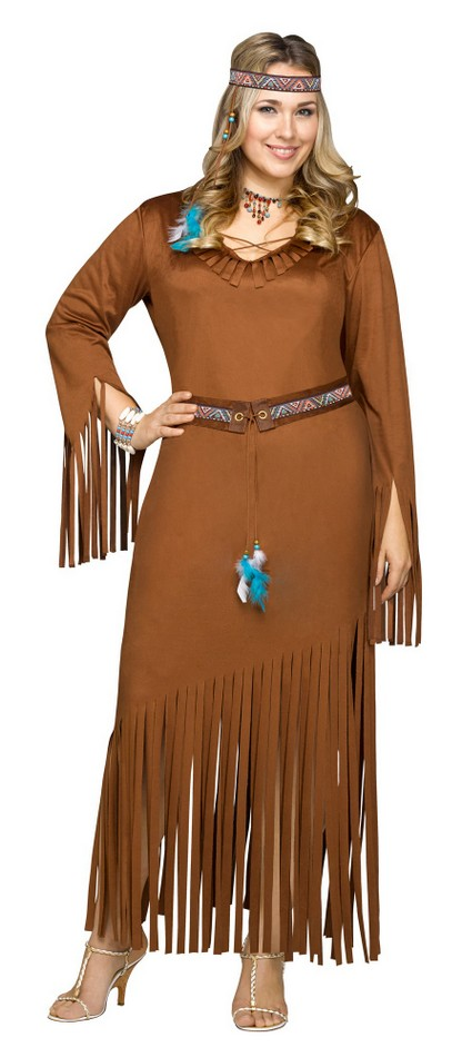 Womenu0027s Plus Size Indian Summer Native American Costume  sc 1 st  Candy Apple Costumes : pocahontas plus size costume  - Germanpascual.Com