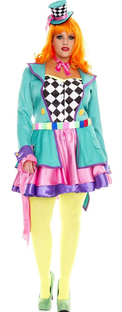 women's plus size mad hatter hottie costume - candy apple costumes