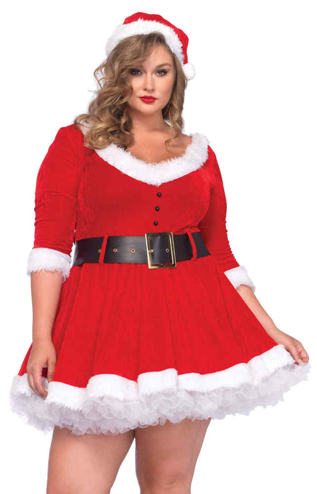 Womenu0027s Plus Size Miss Santa Costume  sc 1 st  Candy Apple Costumes & Womenu0027s Plus Size Miss Santa Costume - Candy Apple Costumes - 3X and ...