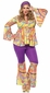 Women's Plus Size Purple Haze Hippie Costume