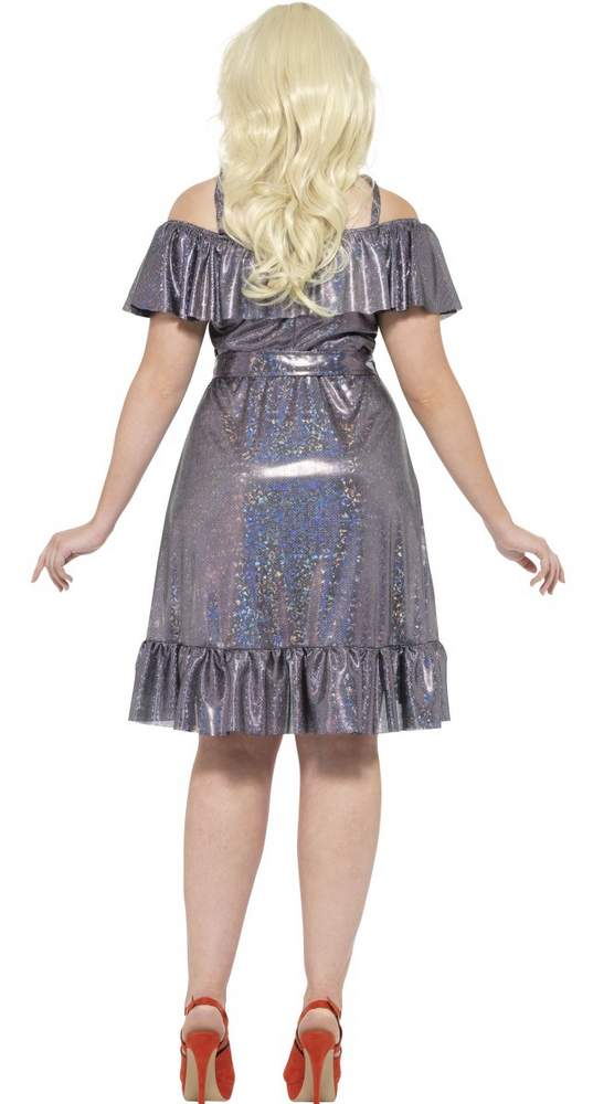 Womens Plus Size Silver Disco Diva Costume Candy Apple Costumes