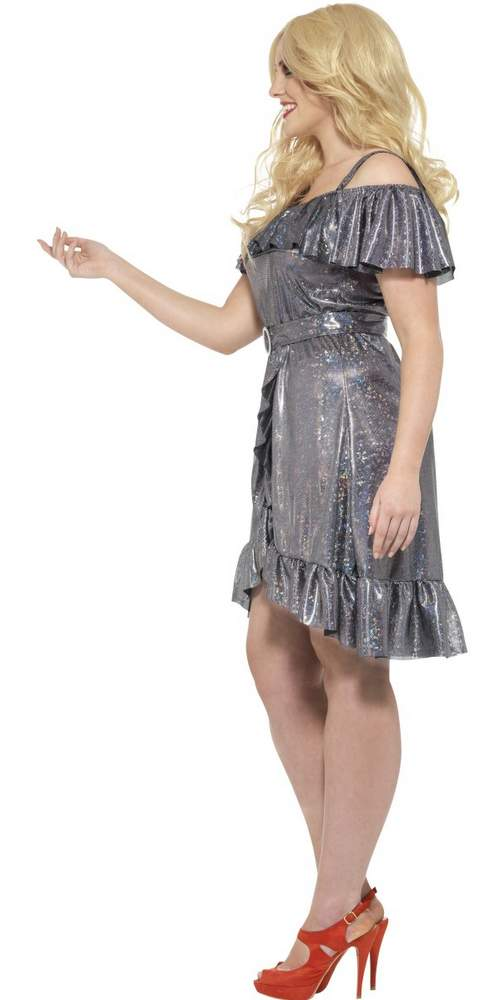 Women\'s Plus Size Silver Disco Diva Costume - Candy Apple ...