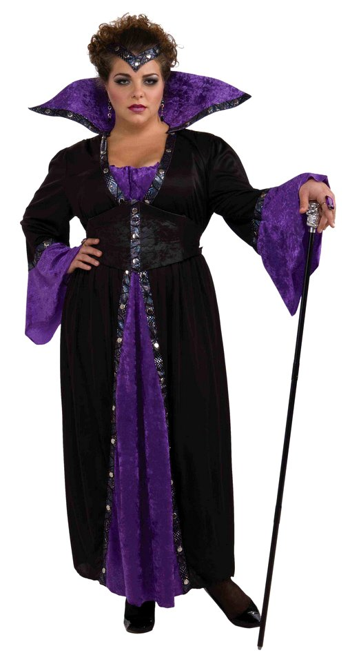 womens plus size sorceress 2x3x costume