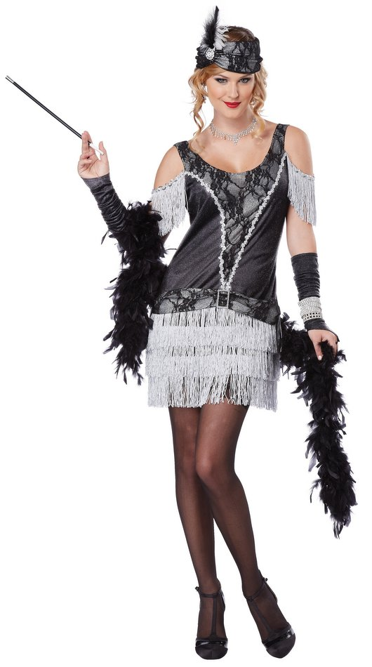 razzle dazzle adult flapper dress candyapplecostumes. Black Bedroom Furniture Sets. Home Design Ideas