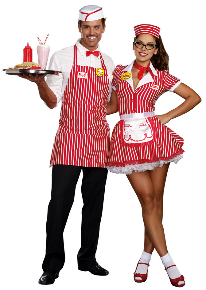 women 39 s diner doll costume 50 39 s waitress costumes 50 39 s costumes. Black Bedroom Furniture Sets. Home Design Ideas