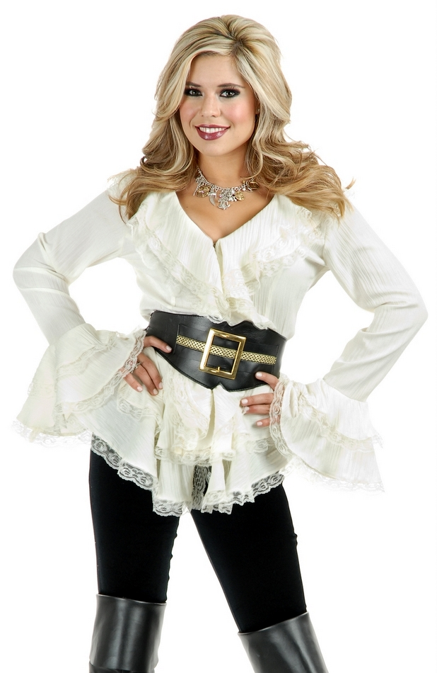 South Seas Pirate Lady Blouse Candy Apple Costumes