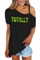 Women's Acid Green Totally 80's Shoulder Strap Tee
