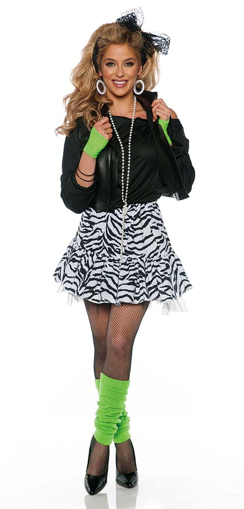Women S Black White Rockin The 80s Costume Candy Apple