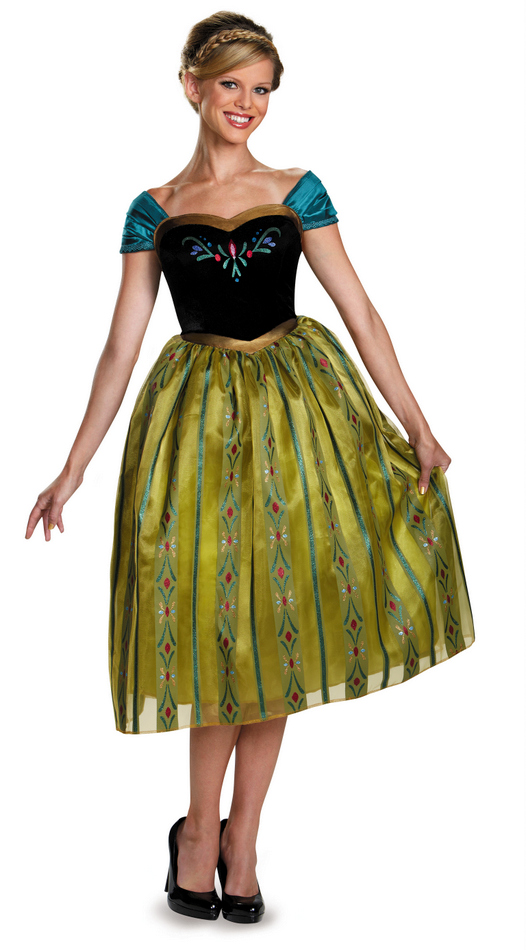 Womenu0027s Disney Frozen Annau0027s Coronation Gown  sc 1 st  Candy Apple Costumes & Womenu0027s Disney Frozen Annau0027s Coronation Gown - Adult Disney Costumes ...