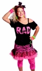 Women's Hot Pink Rad 80's Shoulder Strap Tee