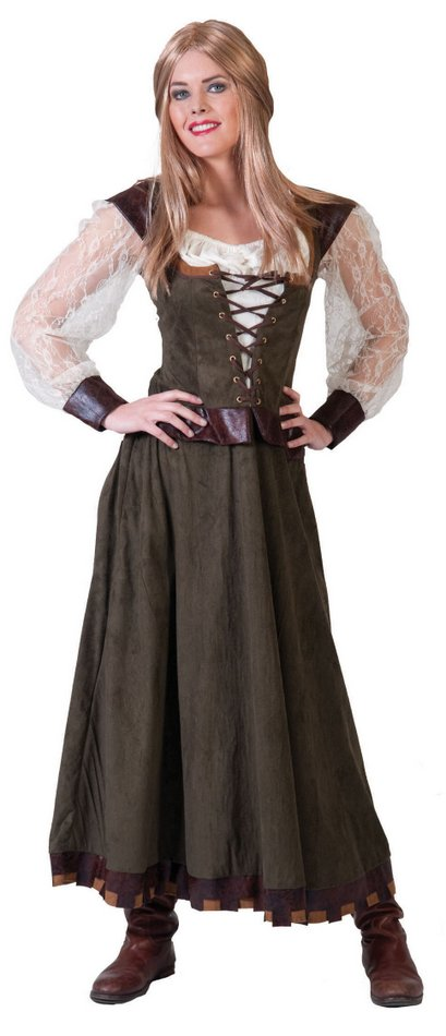 Women's Might Maid Marian Medieval Costume